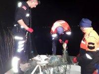 İznik Gölü'nde kaçak balık avcılarına operasyon düzenlendi
