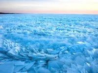 ABD'deki Michigan Gölü buz tuttu