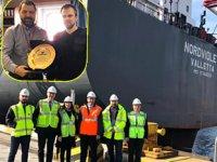 BSX Servisi'nin 'Nordviolet' isimli gemisi, ilk uğrağını Kumport'a yaptı