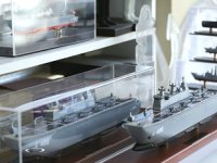 'Yüzen askeri üs' denizle buluşmadan maketi yapıldı