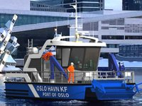 Oslo Limanı'nda atıklar elektrikli bot ile toplanacak