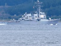 'USS Ross' isimli ABD savaş gemisi, İstanbul Boğazı'ndan geçti