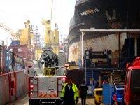 Astaş Tersanesi'nde 'SORMOVSKIY 118' isimli gemide yangın çıktı