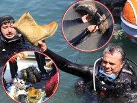Kaleiçi Yat Limanı'nda deniz dibi temizliği yapıldı