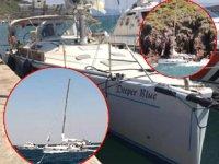 'Deepar Blue' isimli yelkenli tekne, karaya oturdu