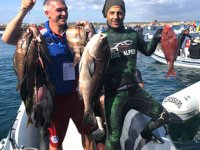 Zıpkınla Balık Avı Şampiyonası'nın ilk eleme müsabakaları yapıldı