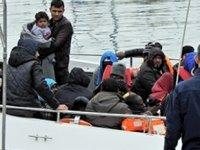 Ayvalık'ta 32 düzensiz göçmen yakalandı