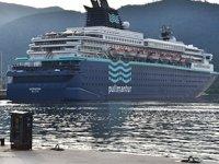 'Horizon' isimli yolcu gemisi, Marmaris'e sezonun ilk seferi yaptı