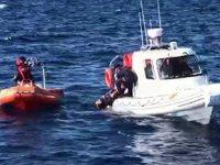 Yüzerek İstanköy Adası'na geçmeye çalışan göçmeni Sahil Güvenlik kurtardı