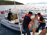 Bodrum'da kırsal alanda mahsur kalanları Sahil Güvenlik kurtardı
