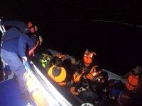 Ayvacık'ta 34 düzensiz göçmen yakalandı