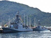 Türk savaş gemileri, Marmaris'te ziyarete açıldı