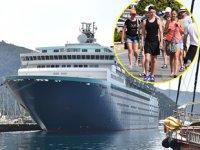 'Horizon' isimli yolcu gemisi, Marmaris'e geldi