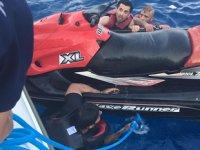 Bodrum'da jet-ski ile kaçmaya çalışan göçmenler yakalandı