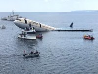 Airbus A330 tip yolcu uçağı, Saros Körfezi'nde batırıldı