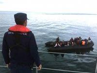 Enez'de 40 düzensiz göçmen yakalandı