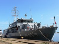 TCG Alanya ve TCG Akçakoca gemileri, HOPAPORT'u ziyaret etti