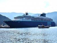 'Horizon' isimli kruvaziyer gemisi Marmaris Limanı'na yanaştı