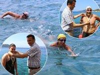 Kaş'ta Meis Açık Deniz Yüzme Yarışı yapıldı