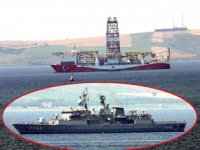 'Yavuz' sondaj gemisi, Çanakkale Boğazı'ndan geçti