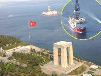 'Yavuz' sondaj gemisi, 'Şehitler'i selamladı