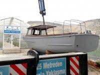 BİNEK-63 isimli tekne, Halfeti Belediyesi'ne teslim edildi