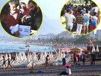 Konyaaltı Sahili'nde 'Mavi Bayrak' gerilimi yaşandı