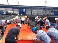 HOPAPORT'ta acil müdahale eylem planı kapsamında tatbikat gerçekleştirildi