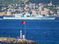 HMCS Toronto isimli savaş gemisi, Çanakkale Boğazı'ndan geçti