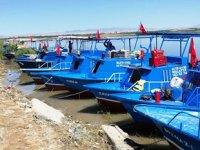 Karakaya Baraj Gölü'nde balıkçı tekneleri denetleniyor