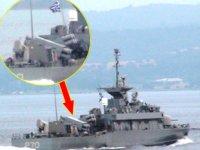 Yunan savaş gemisi, Çanakkale Boğazı'ndan geçti