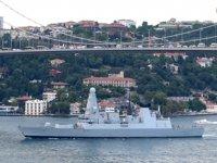 İngiltere'nin Hürmüz Körfezi'ne gönderdiği savaş gemisi, İstanbul Boğazı'ndan geçti