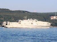 'USNS Yuma' isimli yüksek hızlı transfer gemisi, Çanakkale Boğazı'ndan geçti