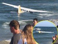 ABD'de arızalanan uçak, denize acil iniş yaptı