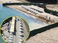Taşköprü'de inşa edilen kadınlar plajı açıldı