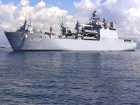 TCG Bayraktar tank çıkarma gemisi, Barcelona'ya demir attı