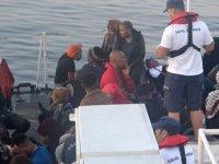 Ayvalık'ta 49 düzensiz göçmen yakalandı