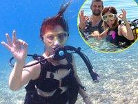 Antalya'da otizmli çocuk anneleri, tüplü dalış yaptı