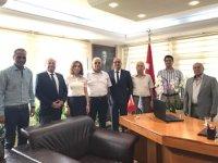 İMEAK DTO İskenderun Şubesi Yönetimi, Arif Ertekin'i ziyaret etti
