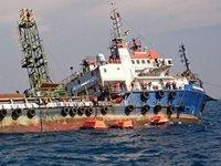 'Patra Offshore' isimli sondaj gemisi, batma tehlikesi geçirdi
