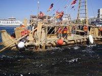 'Abora IV' adlı gemi, Koltukbarınağı İskelesi'ne yanaştı