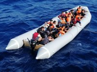 Bodrum'da lastik botla kaçmaya çalışan 44 göçmenler yakalandı