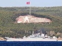 'Ceasar Kunikov' isimli savaş gemisi, Çanakkale Boğazı'ndan geçti