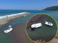 Abana Balıkçı Barınağı'nın ağzı kum doldu, balıkçılar denize açılamadı