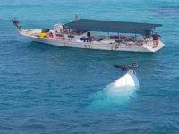 Mersinlik'te karaya vurmuş tekne bulundu