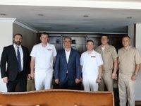 Rus Komutanlar, Marmaris Belediye Başkanı Mehmet Oktay'ı ziyaret etti