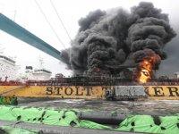 'Stolt Groenland' isimli petrol tankerinde yangın çıktı: 9 yaralı