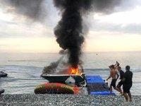 Rusya'da sürat teknesinde patlama meydana geldi