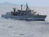 'HS Elli' (F450) isimli Yunan savaş gemisi, Semadirek Adası'nda karaya oturdu