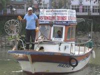 Su sümbülleri, Asi Nehri'ni kaplamadan toplanıyor